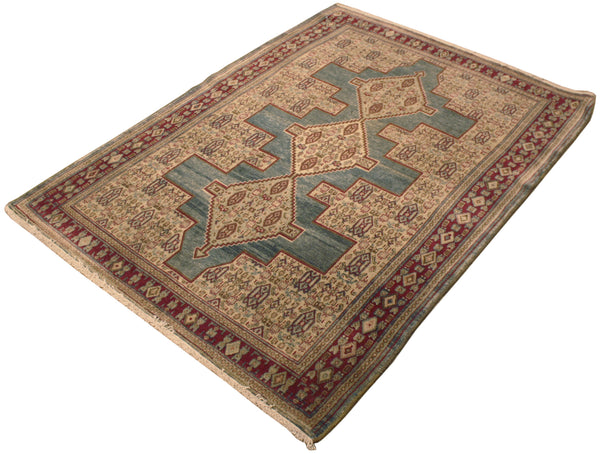 3.9x5 Antique Persian Senneh
