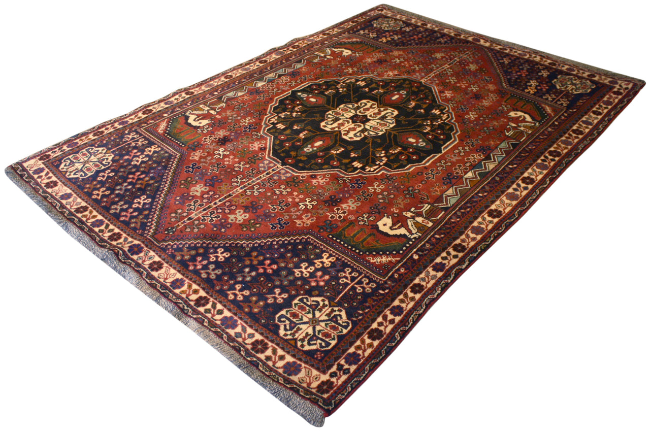 5.6x8 Vintage Persian Shiraz
