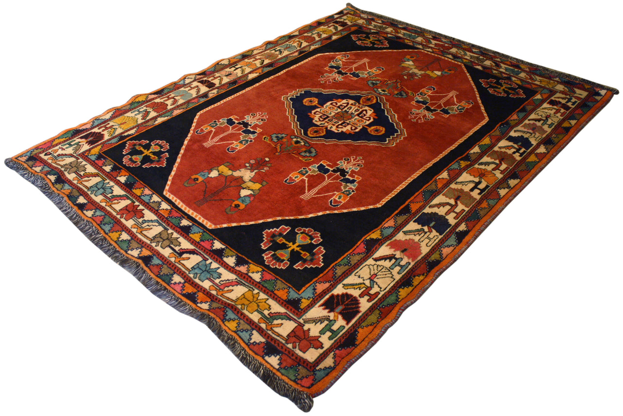 5.4x7 Vintage Persian Shiraz
