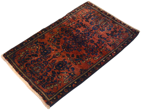 1.11x3.4 Antique Persian Sarouk