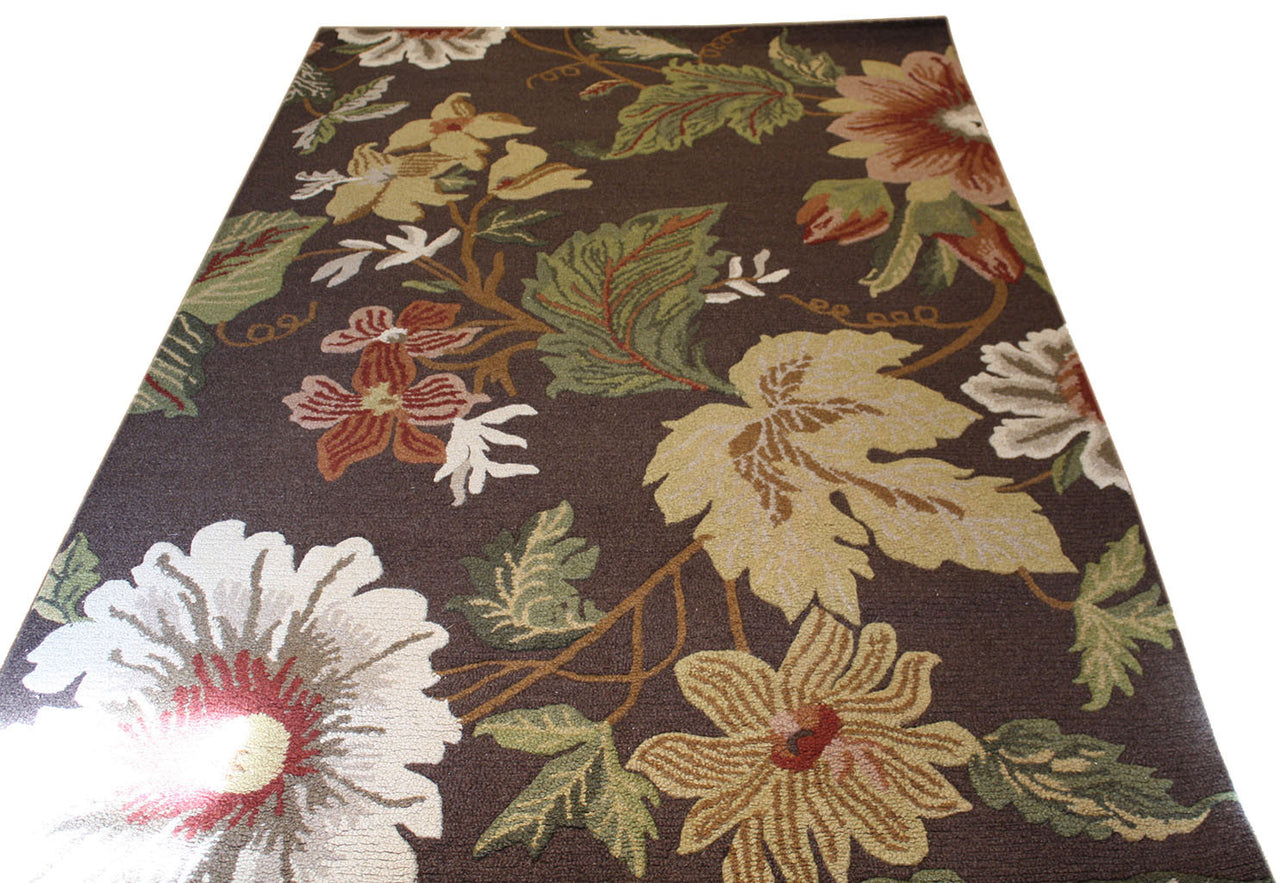 5x8 Tufted Floral Rug - Main Street Oriental Rugs