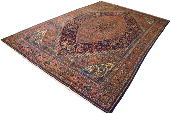 7x10.9 Antique Persian Afshar