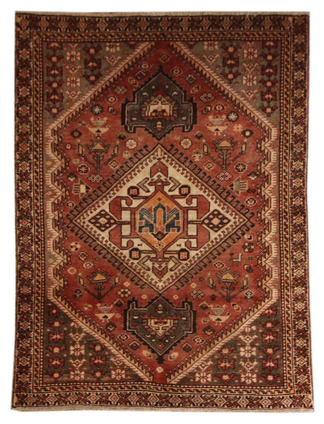 4.9x6.5 Antique Persian - Main Street Oriental Rugs