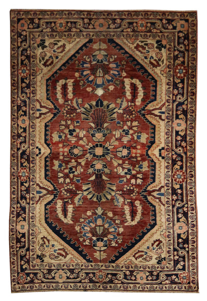 4.4x6.7 Antique Persian Malayer - Main Street Oriental Rugs