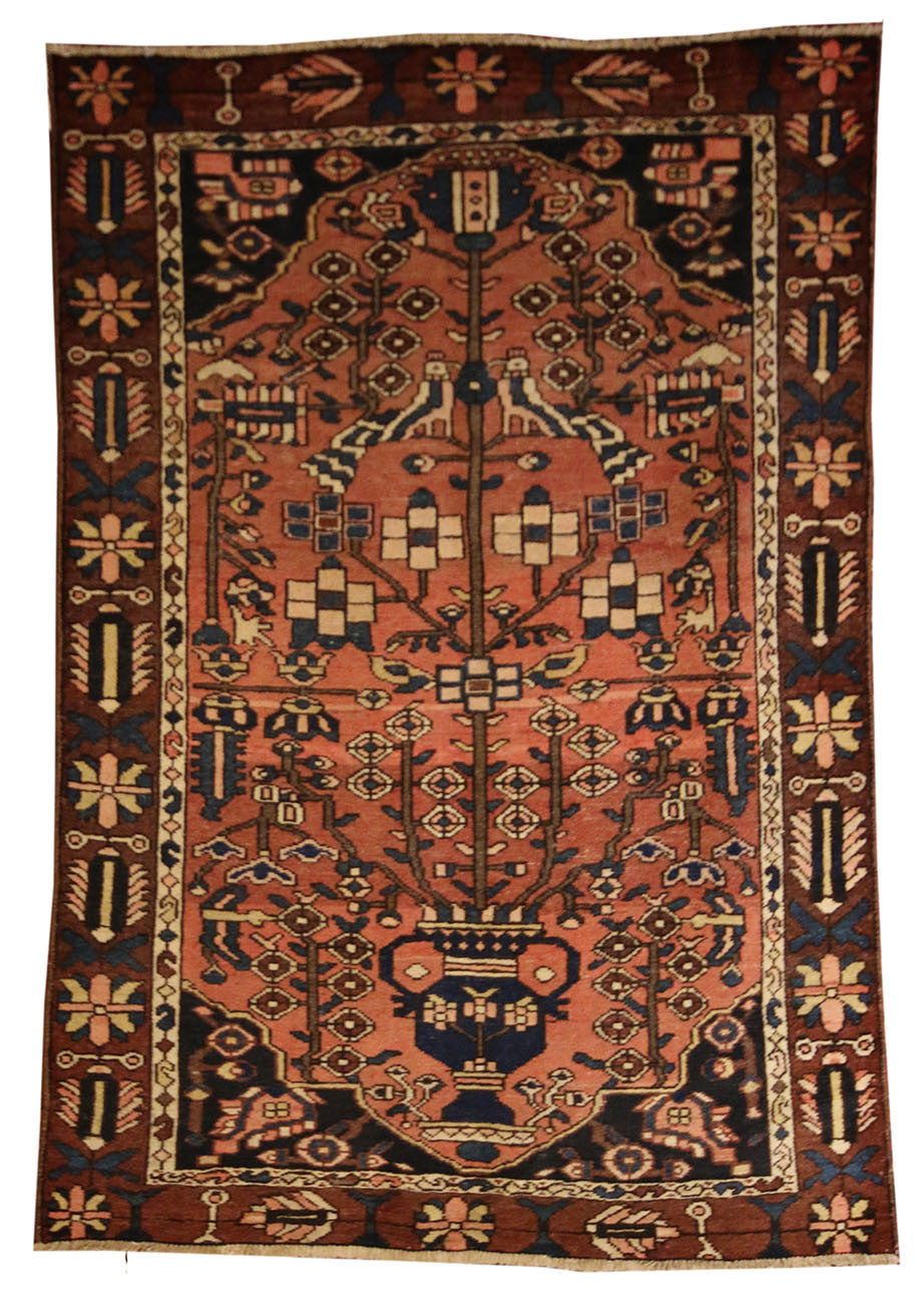 4x6.7 Antique Persian Malayer - Main Street Oriental Rugs