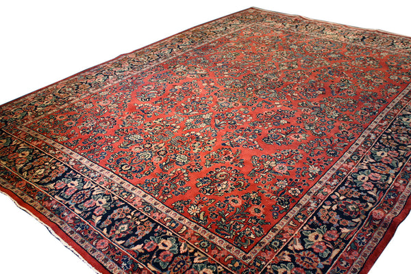 8.9x11.8 Antique Persian Sarouk - Main Street Oriental Rugs - 1