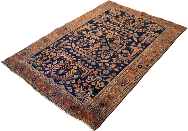 4.3x6.3 Antique Persian Sarouk