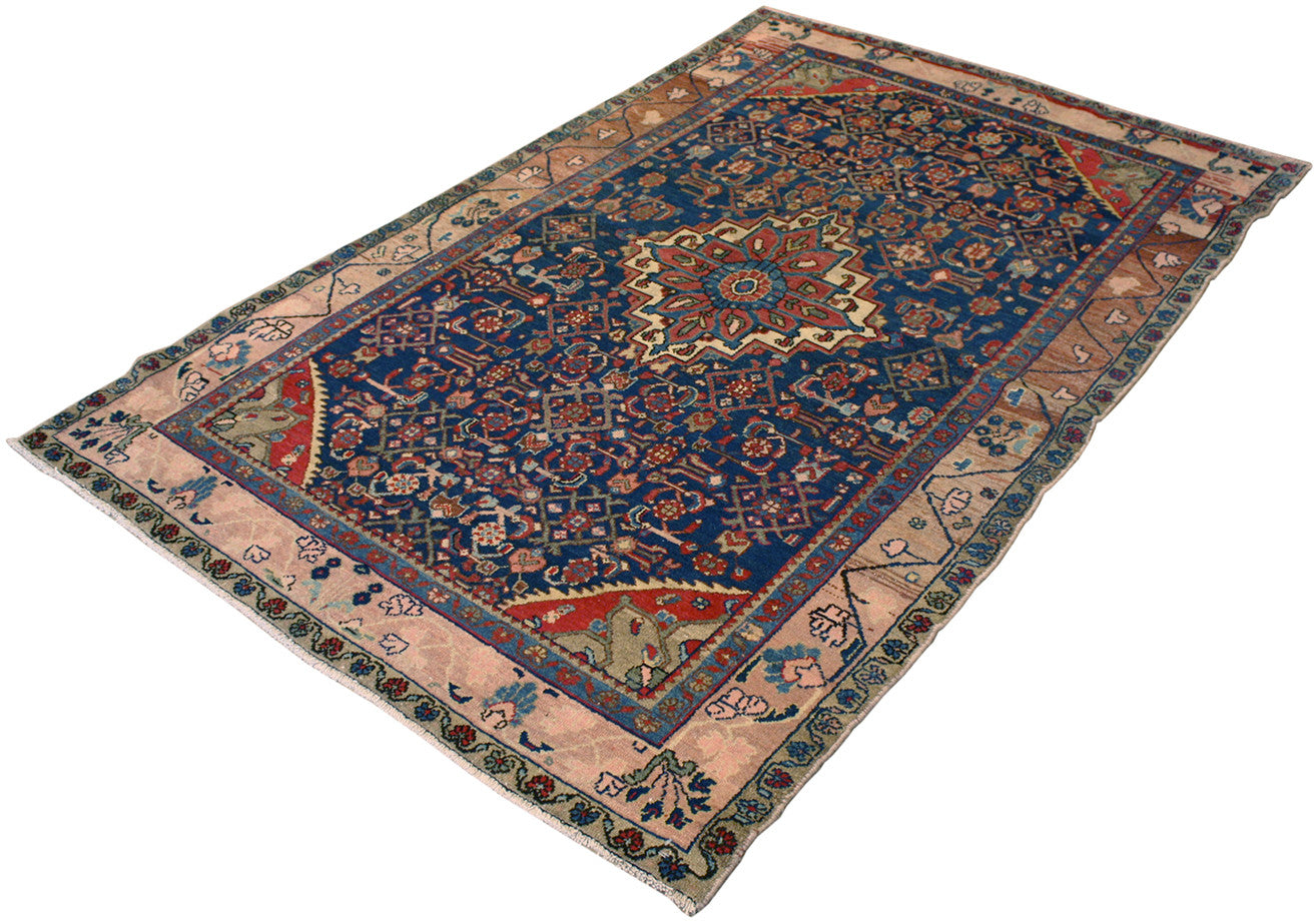 4.2x6.7 Antique Persian Hamedan