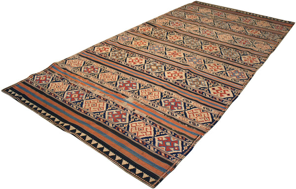 5.4x11.4 Antique Turkish Kilim