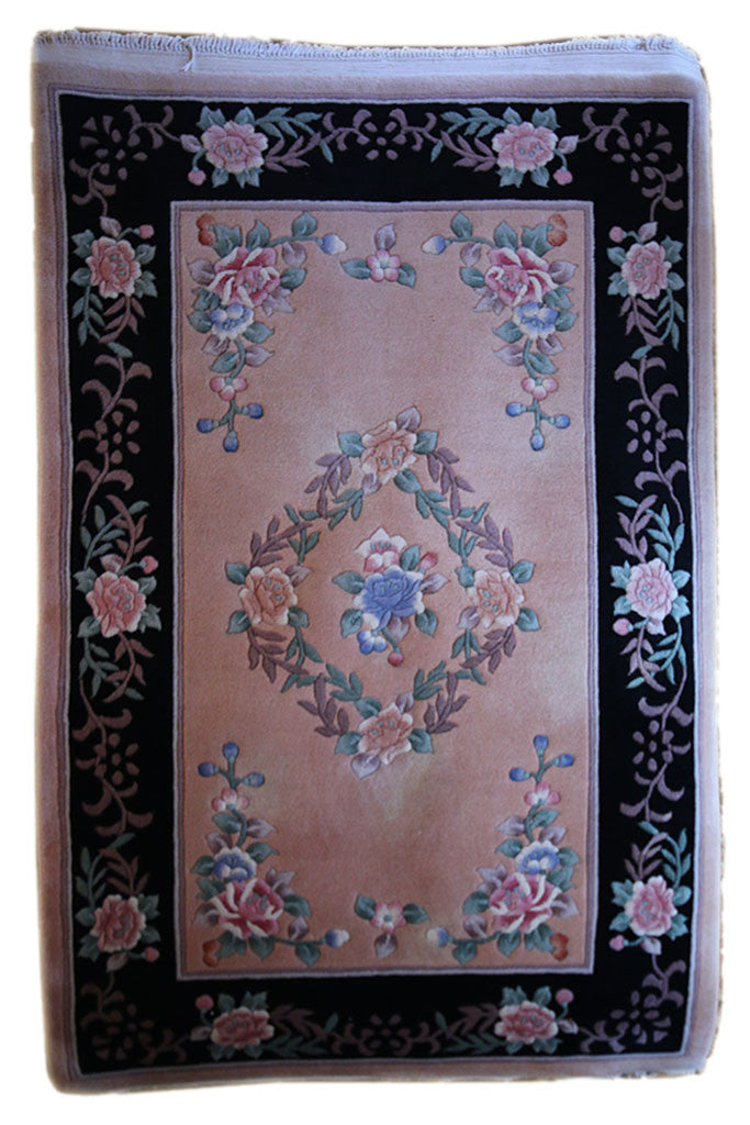 4x6 Vintage Super Chinese Floral Motif - Main Street Oriental Rugs - 1