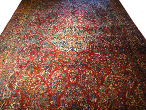 8.8 x 11.8 Antique Persian Sarouk