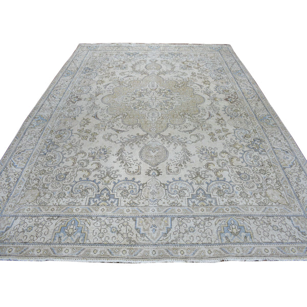9.6x12.8 Tabriz White Wash