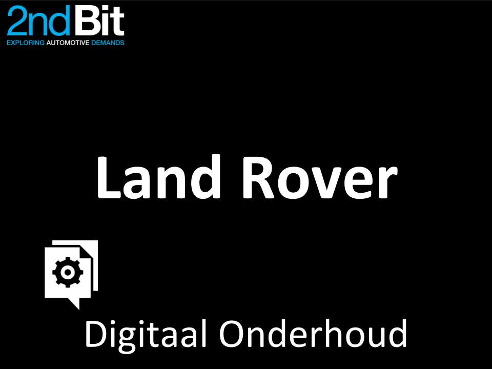 Land Rover Digital Service Record