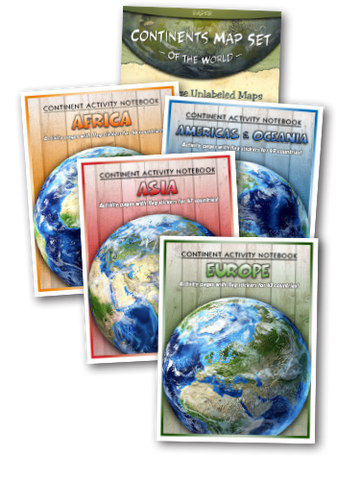 Continents Study Package