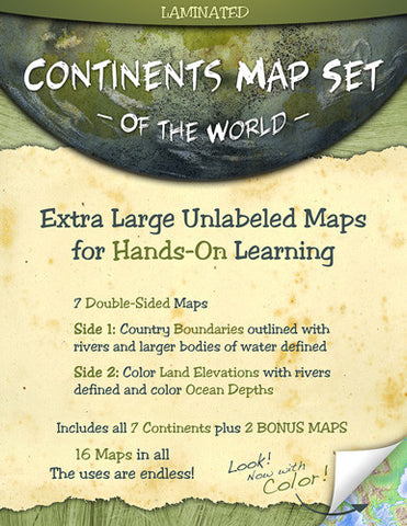 Continents Map Set