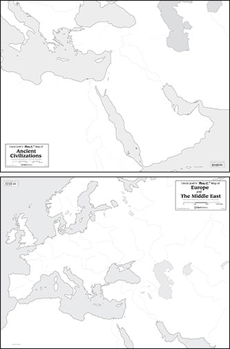 Double-Sided Outline Maps