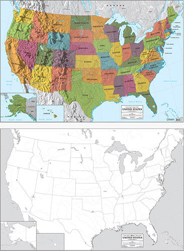 Color Labeled/Outline Maps