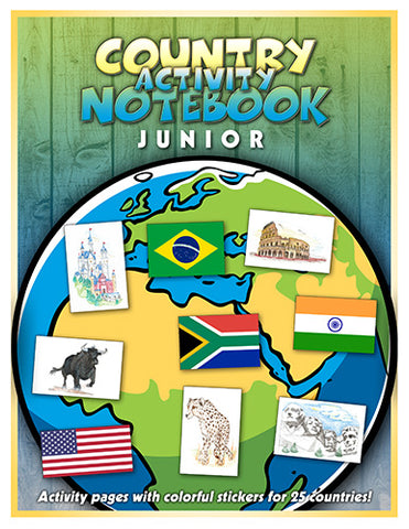 Junior Country Notebook with Stickers