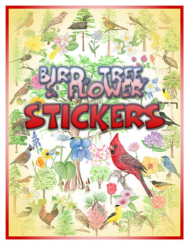 United States Flora & Fauna Stickers
