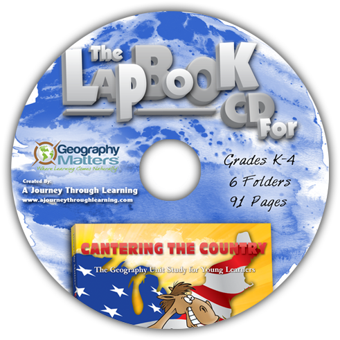 Cantering the Country Lapbook CD