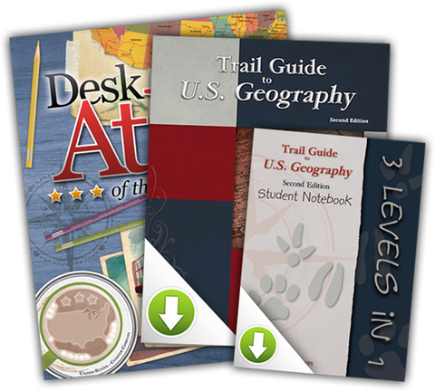 USA Desk Atlas Bundle with US Trail Guide