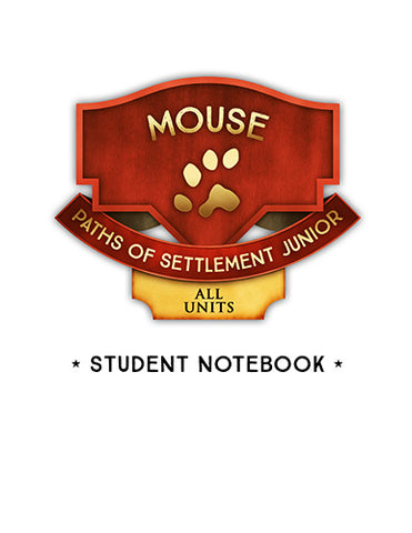 Paths of Settlement Junior Student Notebooks
