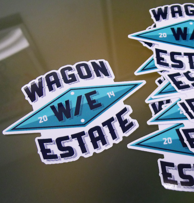 W/E Die Cut Sticker