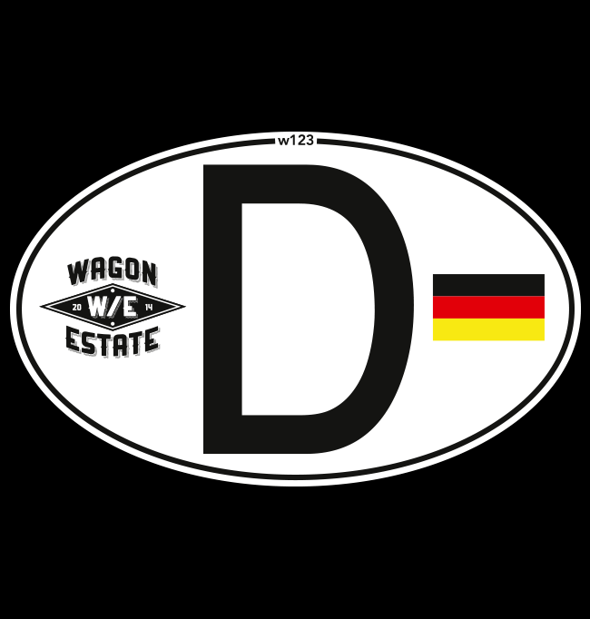 Deutschland Germany Oval Vinyl Car Sticker