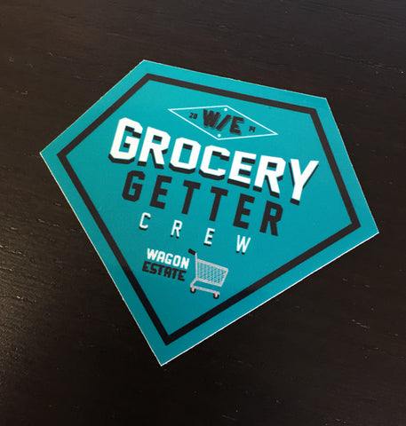 Diamond Cut Grocery Getter Sticker