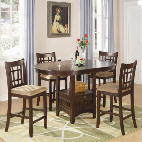 Lavon 5 Piece Counter Table and Chair Set-Warm Brown