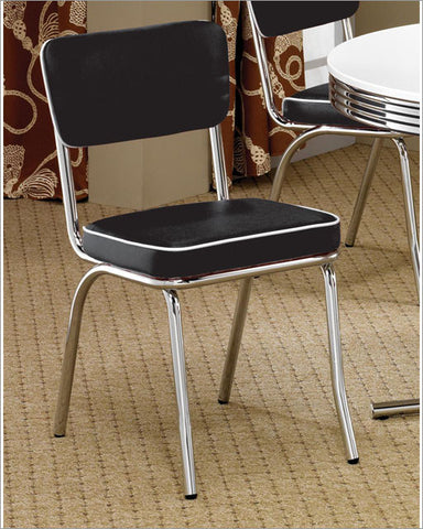 Cleveland Retro Black Dining Chair
