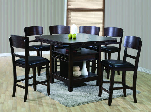 Connor 7 Piece Counter Dining Set-Espresso