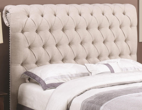 Devon Tufted Headboard -Beige