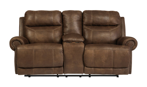 Austere Brown Power Reclining Loveseat