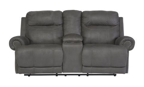 Austere Gray Power Reclining Loveseat