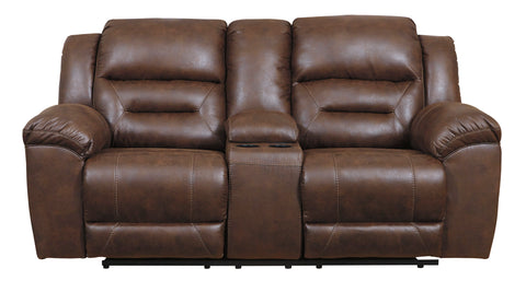 Stoneland Chocolate  Reclining Loveseat