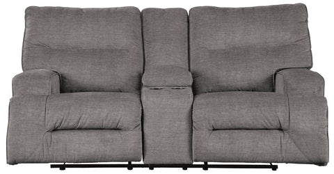 Coombs Charcoal Power Recline Loveseat
