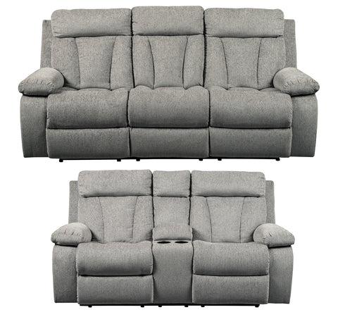 Mitchner Fog Sofa Set