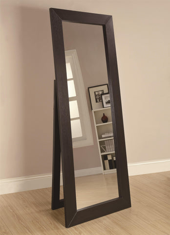 "Dark cappuccino floor mirror 28"" wide, 72"" high"