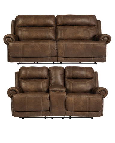 Austere Brown Reclining Set - With Or Without Power