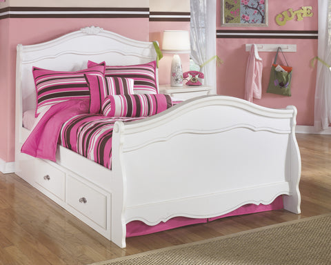 Exquisite Full Sleigh Bed With Understorage