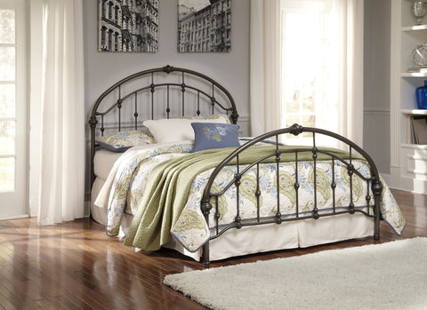 Nashburg Bronze Bed Frame In King or Queen