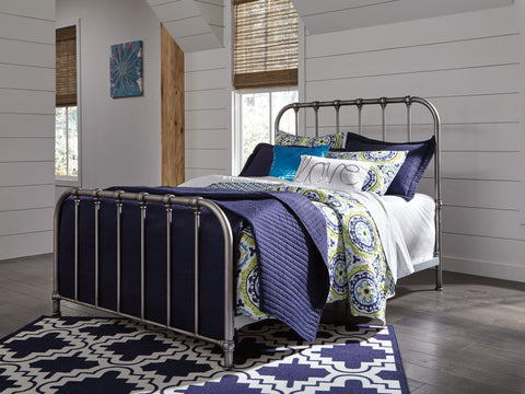 Nashburg Silver Bed Frame In Queen, Full, or Twin