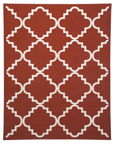 "Bandele Orange/White 60"" x 79"" Rug"