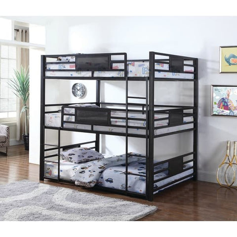 Casual Black Full Triple Bunk