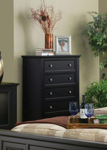 Sandy Beach 5 Drawer Chest (Black)