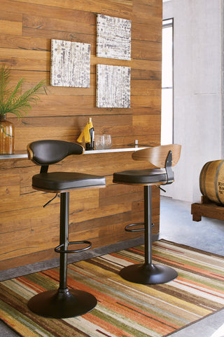 Bellatier Brown/Black ADJ Height Stool