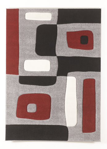 "Geo Red 62"" x 86"" Rug"