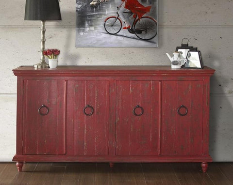 Capri Console In Red, Blue, White, Green, Ivory and Charcoal