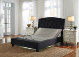 Power bed base with adjustable head compatible with standard, platform or storage bed